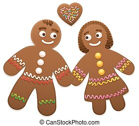 Gingerbread Couple Man Woman Love - Gingerbread love couple...