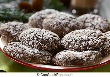 Chocolate Crinkle Cookies - Chocolate crinkle cookies,...