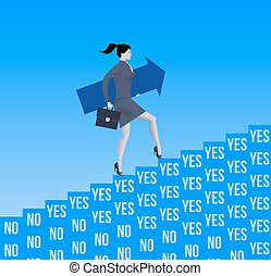 Career ladder opportunities business concept