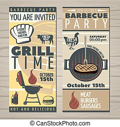 BBQ Time Invite Flyer