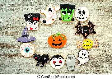 formas, Galletas,  Halloween, diferente