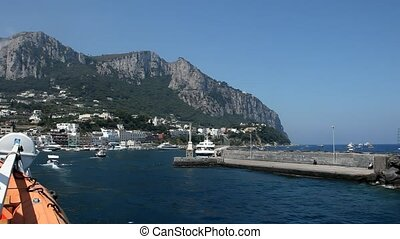 Ship, Harbour Of Capri, Italy
