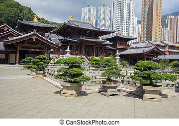 Chi lin Nunnery, Tang dynasty style temple, Hong Kong, China