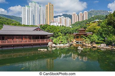 Public Nan Lian Garden, Chi Lin Nunnery, Hong Kong, China