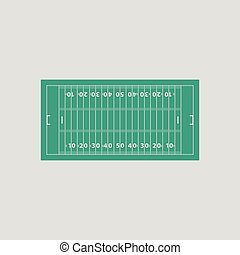 American football field mark icon. Gray background with...