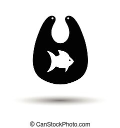 Bib icon. White background with shadow design. Vector...