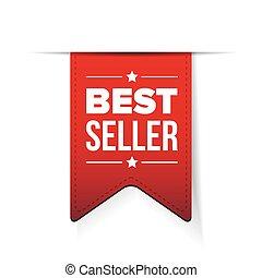 Best Seller red ribbon vector