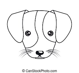 cartoon cute puppy hand draw