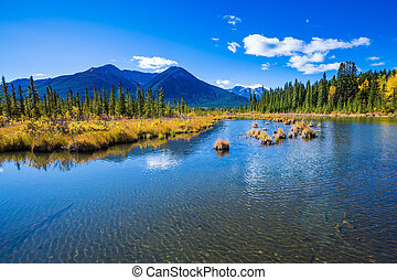 Sunny day in the Canadian Rockies