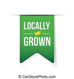 Locally Grown green ribbon