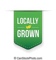 Locally Grown green ribbon vector