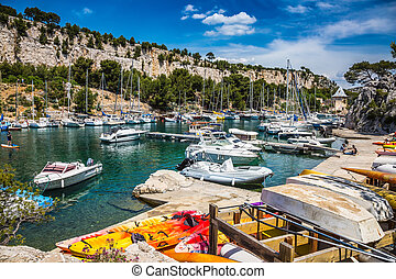 The dock for repair with the boats - The dock for repair is...