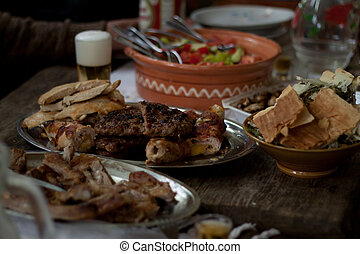tradizionale, macedone, cibo