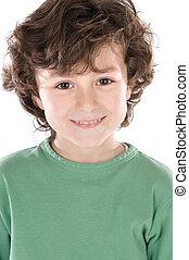Smiling boy looking at camera