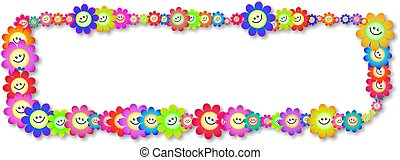 Happy Flower Banner - A simple and pretty floral page border...