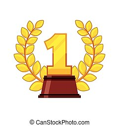 first place award isolated icon