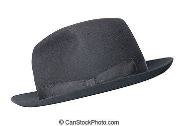 retro black hat isolated on white