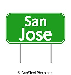 San Jose green road sign