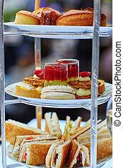 bello, cerimonia, tè, alto, regolazione, tavola