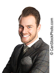 Smiling handsome businessman - Portrait of an attractive...