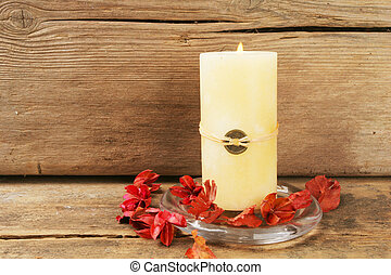Feng shui candle - Burning feng shui candle and pot pouri...