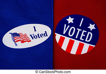 """""""I Voted"""" Election Day Sticker - Oval and round """"I Voted""""..."""