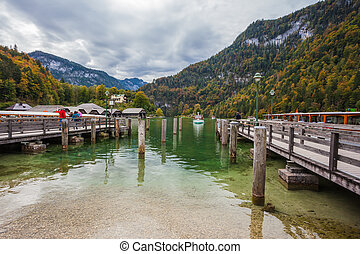 Park Berchtesgaden in Germany - Famous lake Konigssee....
