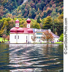 Monastery of St. Bartholomew at Lake Königssee - Magic...