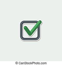 Colorful web symbol - check mark