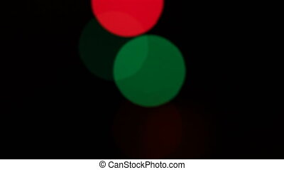 Defocused Christmas lights - Defocused blinking Christmas...