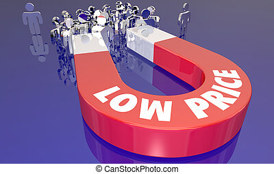 Low Prices Sale Attracting Customers Magnet Words 3d...