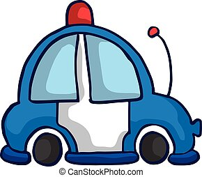 Ambulance car funny vector illustration for kids design