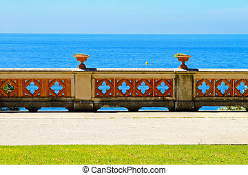 Ocean fence - Looking over old decorative fence to seaside