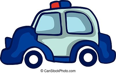 Police car collection stock vector art illustration