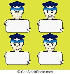 cartoon captain airline