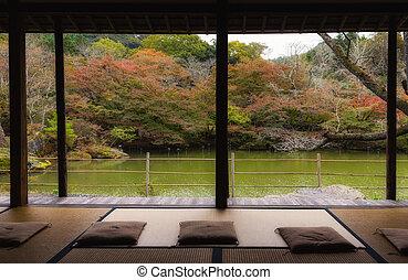 Mifuneyama Rakuen Garden autumn season in Saga, Japan