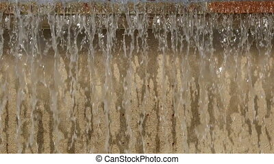 Streams of water in a waterfall - Water streams in a park...