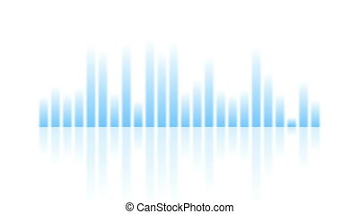 Blue musical equalizer video animation - Blue musical...