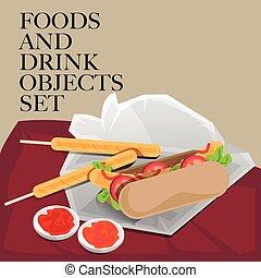 food drink hotdog