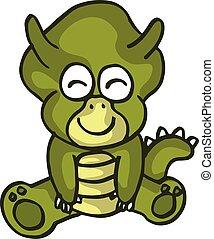 illustration of Cartoon dinosaur vector