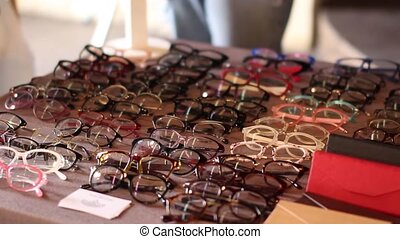 choice of eyeglass frames on the beauty fair - bright choice...