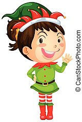 Girl in elf costume