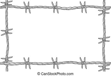 Barbed Wire Copy Space