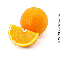 citrus orange fruit isolated on whi - citrus orange fruit...