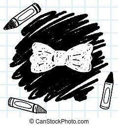 領帶, 弓, 心不在焉地亂寫亂畫