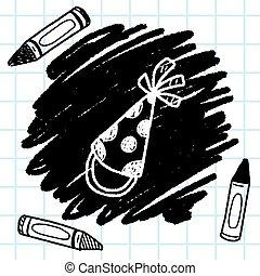 doodle party hats