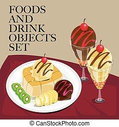 food drink toast icecream