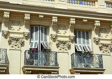 french burgess facade - old french burgess facade in...