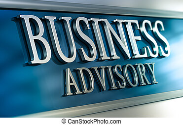 Business Advisory - 3D illustration of a business advisory...