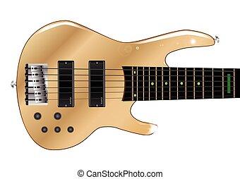 Bass Guitar Body - A generic six string wooden body bass...